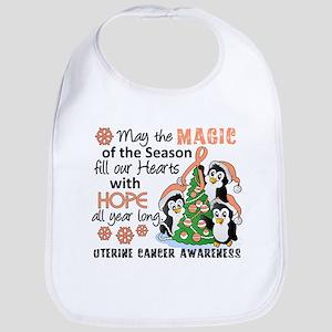 Holiday Penguins Uterine Cancer Bib