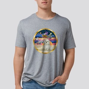 W-XmasStar-Maltese11 Mens Tri-blend T-Shirt