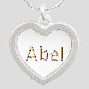 Abel Pencils Silver Heart Necklace