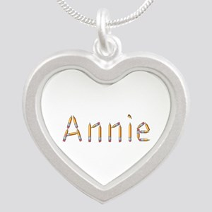 Annie Pencils Silver Heart Necklace