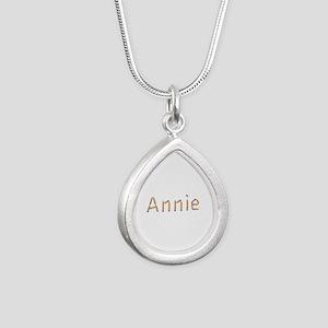 Annie Pencils Silver Teardrop Necklace