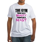 Leave beast Fitted T-Shirt