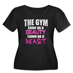 Leave beast Women's Plus Size Scoop Neck Dark T-Sh