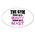 Leave beast Sticker (Oval)