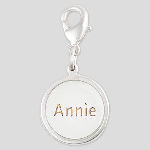 Annie Pencils Silver Round Charm