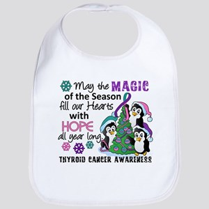 Holiday Penguins Thyroid Cancer Bib