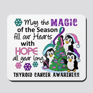 Holiday Penguins Thyroid Cancer Mousepad