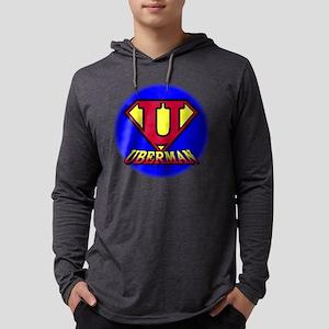 uberman2 BLK Mens Hooded Shirt