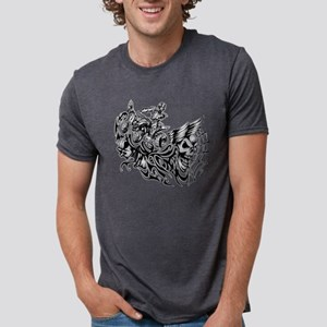 Off-Road Styles Blazed Wick Mens Tri-blend T-Shirt