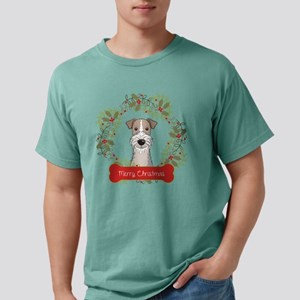 Wire Fox Terrier Christm Mens Comfort Colors Shirt