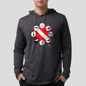 3-Circle-of-Scuba Mens Hooded Shirt