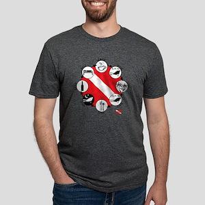 3-Circle-of-Scuba Mens Tri-blend T-Shirt