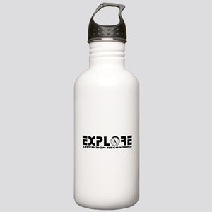 Motto with Compass Stainless Water Bottle 1.0L