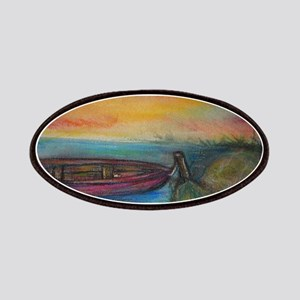 Boat! Colorful art! Patches