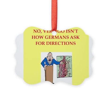 med school joke Picture Ornament