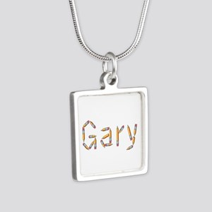 Gary Pencils Silver Square Necklace