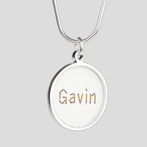 Gavin Pencils Silver Round Necklace