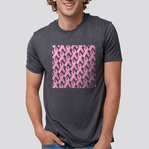 PinkRibbonWarriorSq Mens Tri-blend T-Shirt