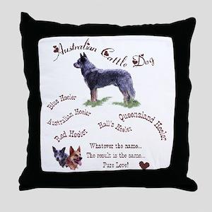 Austalian Cattle Dog Throw Pillow