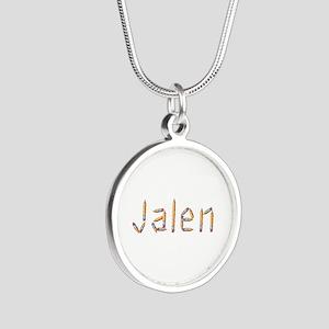 Jalen Pencils Silver Round Necklace