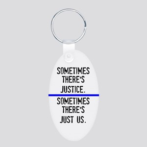 Justice Aluminum Oval Keychain