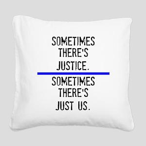 Justice Square Canvas Pillow