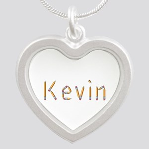 Kevin Pencils Silver Heart Necklace