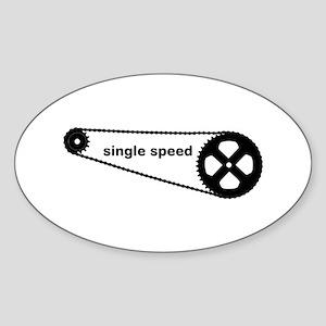 Single Speed Sticker (Oval)