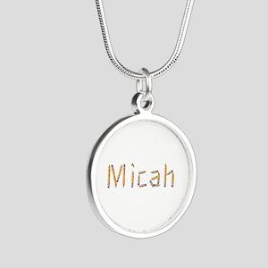 Micah Pencils Silver Round Necklace
