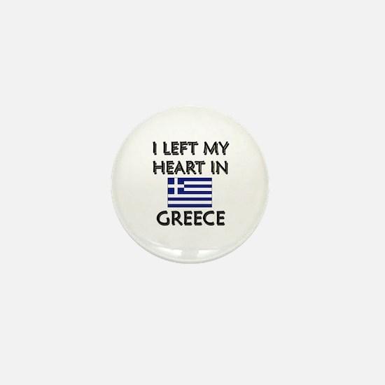 I Left My Heart In Greece Mini Button