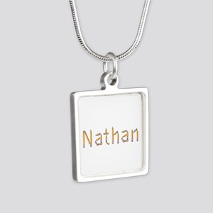 Nathan Pencils Silver Square Necklace