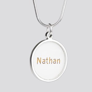 Nathan Pencils Silver Round Necklace