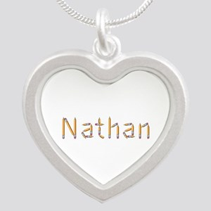 Nathan Pencils Silver Heart Necklace