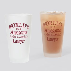 Awesome Lawyer Drinking Glass