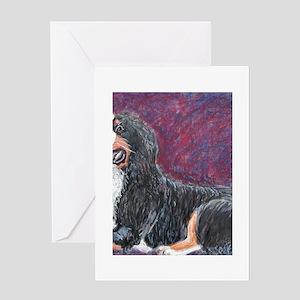 Loki a Bernese Mountain Dog Greeting Cards