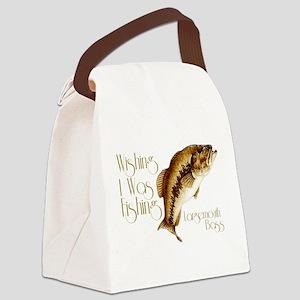 wishingiwasfishing Canvas Lunch Bag