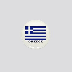 Greece Flag Gear Mini Button