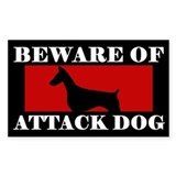 Beware of attack dog 10 Pack