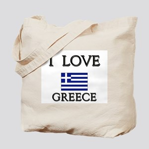 I Love Greece Tote Bag