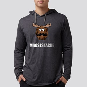 Moosestache Mens Hooded Shirt