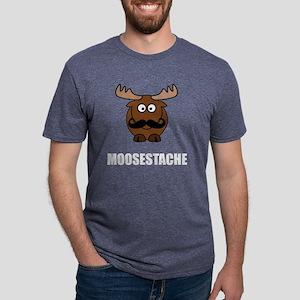 Moosestache Mens Tri-blend T-Shirt