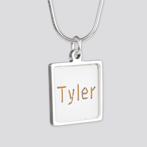 Tyler Pencils Silver Square Necklace