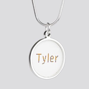 Tyler Pencils Silver Round Necklace