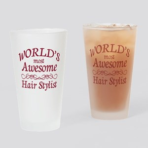 Awesome Hair Stylist Drinking Glass