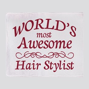 Awesome Hair Stylist Throw Blanket