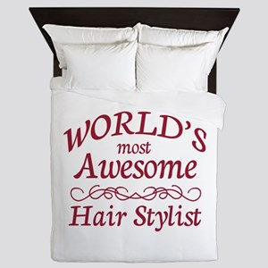 Awesome Hair Stylist Queen Duvet