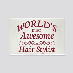Awesome Hair Stylist Rectangle Magnet