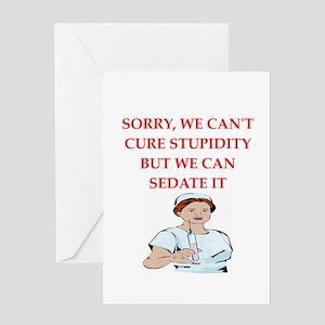 stupidity Greeting Card