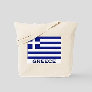 Greece Flag Merchandise Tote Bag