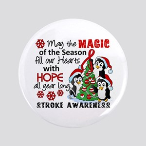 """Holiday Penguins Stroke 3.5"""" Button"""